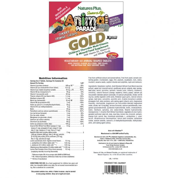 European Pharmacy Online Multivitamin GOLD with Probiotics For Kids Description