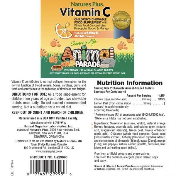 European Pharmacy Online Vitamin C (Orange) For Kids Description